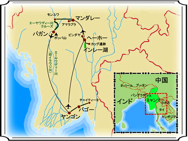 ミャンマー 地図